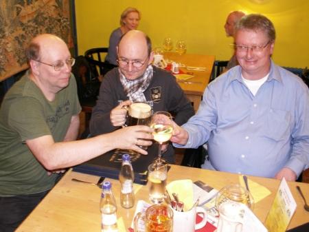 Wim Vandemaan, Christian Montillon e Uwe Anton na conferência dos autores de outubro de 2012