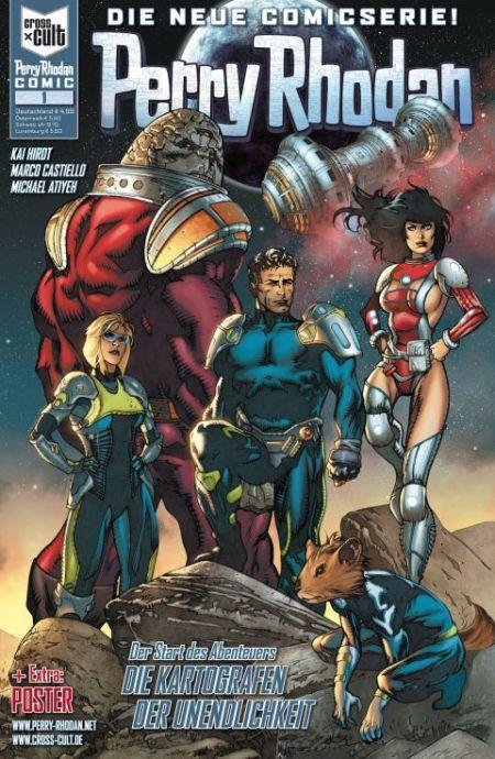 """Capa da primeira edição dos novos quadrinhos de """"Perry Rhodan"""""""